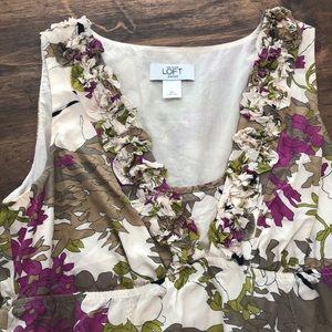 Loft floral dress sz 2P